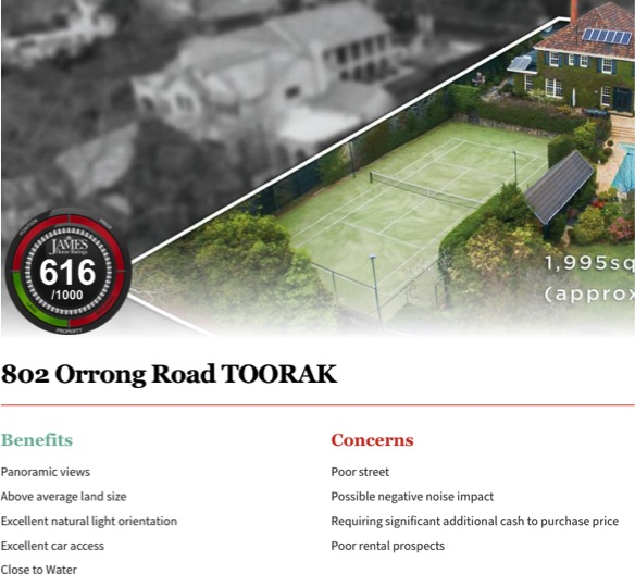 A significant Toorak land value sale. Click on picture for James Buyer Rating.