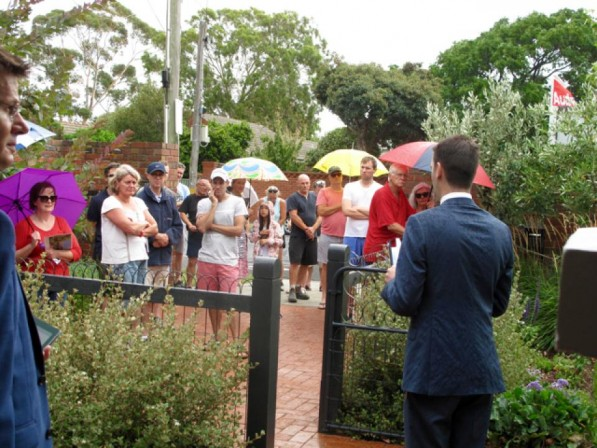 The weather was mixed today, as were the results. 88 Linacre Road Hampton Passed-in on a vendor bid of $1,500,000.