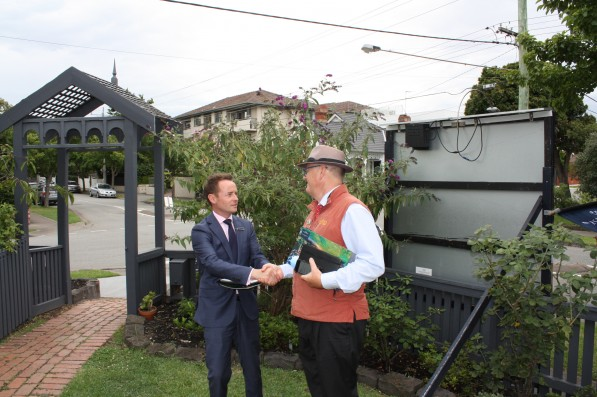 54 Wheatland Avenue Malvern today - Daniel Wheeler as helpful as ever, but I think his new offsider below needs to open up more.